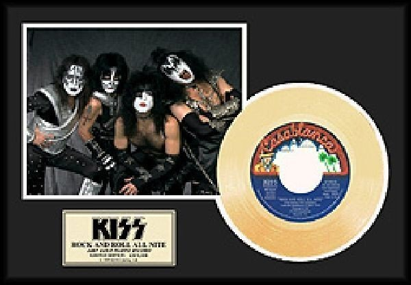 "KISS ""Rock N Roll All Nite"" Gold 45"