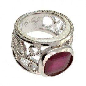 APP: 8.6k 8.00CT Ruby & Sterling Silver Ring