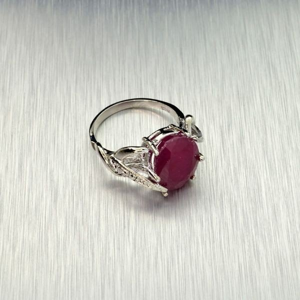 APP: 14.2k 10.73CT Ruby & Sterling Silver Ring