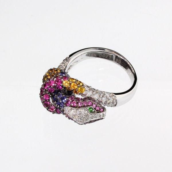 APP: 8k 18kt White Gold, 1CT Diamond & Sapphire Ring