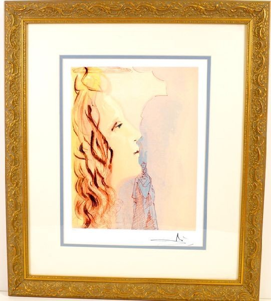SALVADOR DALI, (The Greatest Beauty Of Beatrice) Print