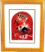 MARC CHAGALL, (Stain Glass Window)Framed Calendar Print