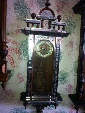 Vienna Regulator Wall Clock, Time & Strike - Runs Well