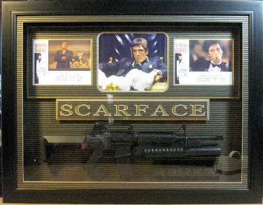 Scarface Al Pacino Replica Gun Authentic Signature