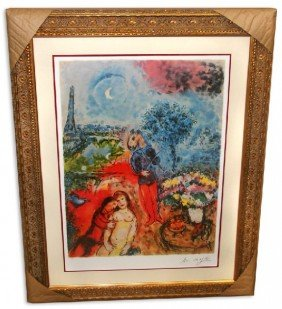Marc Chagall 'Serenade' Museum Framed & Matted Print