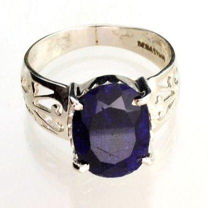 APP: 1k Sebastian 3CT Sapphire & Sterling Silver Ring