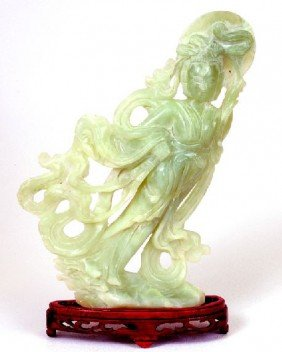 Jade Hand Carved Translucent Sculpture