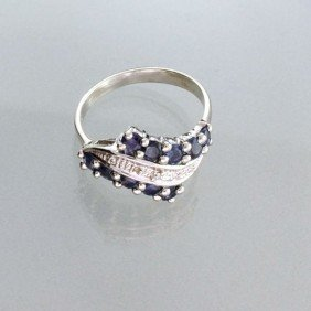 APP: 1k 0.94CT Blue Sapphire & Sterling Silver Ring
