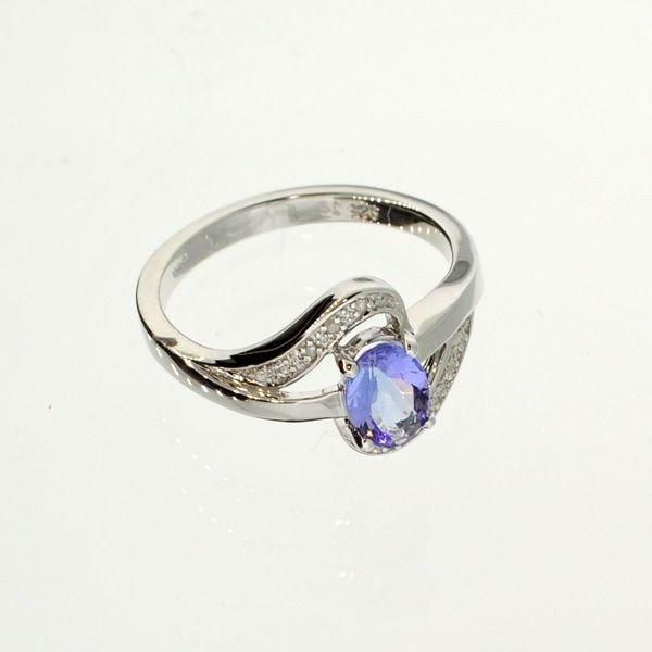APP: 1k 18kt Gold/Silver Over Tanzanite & Diamond Ring