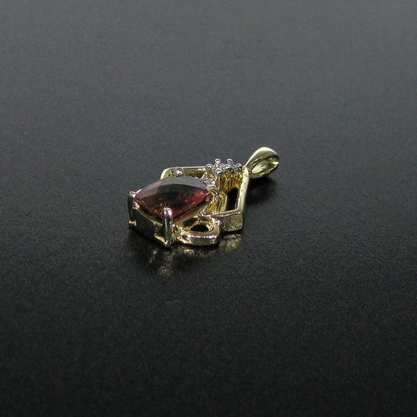 14 kt. Gold, & Pink Tourmaline Pendant