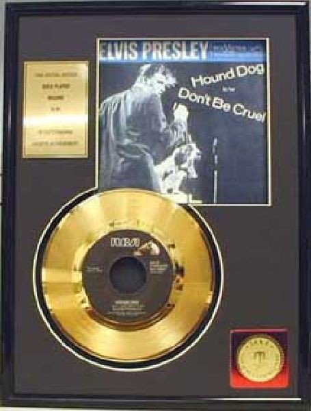 "ELVIS PRESLEY ""Hound Dog"" Gold Record"