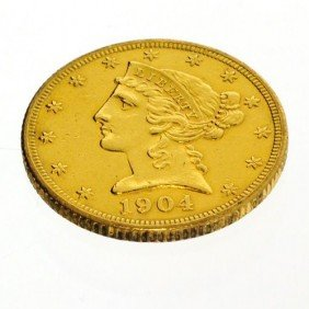 1904 U.S. $5 Liberty Head Gold Coin - Investment