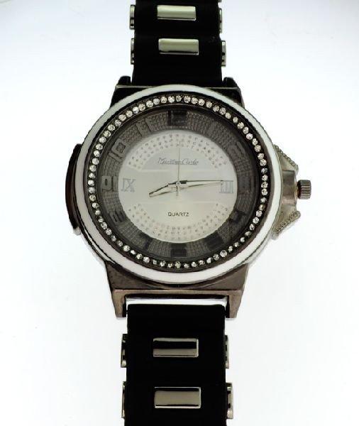 Montres Carlo (Black w/White Trim) Men's Watch