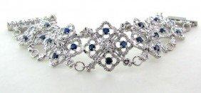 APP: 10k 4CT Sapphire & Overlaid Sterl Silver Bracelet