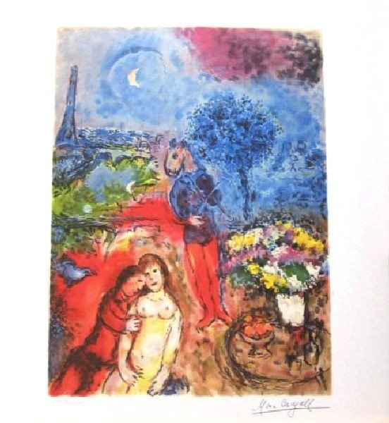 MARC CHAGALL Serenade Print, Limited Edition