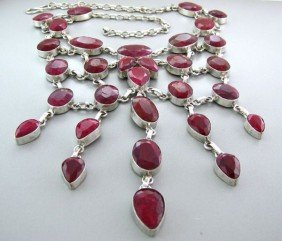 APP: 38.8k 259.50CT Ruby & Sterling Silver Necklace