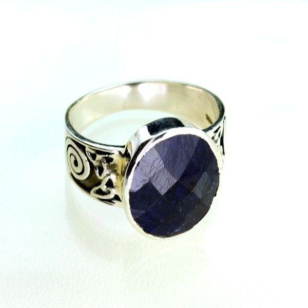 APP: 2k Sebastian 9CT Sapphire & Sterling Silver Ring