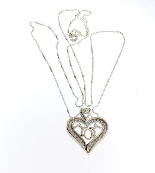 APP: 0.7k 0.25CT Diamond & Sterling Silver Necklace