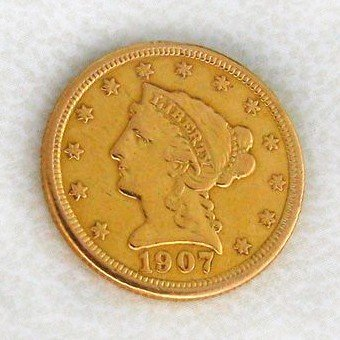 1907 U.S. $2.5 Liberty Head Gold  Coin - Investment