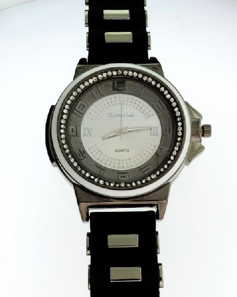 Montres Carlo (Black w/White Trim) Men's Watch