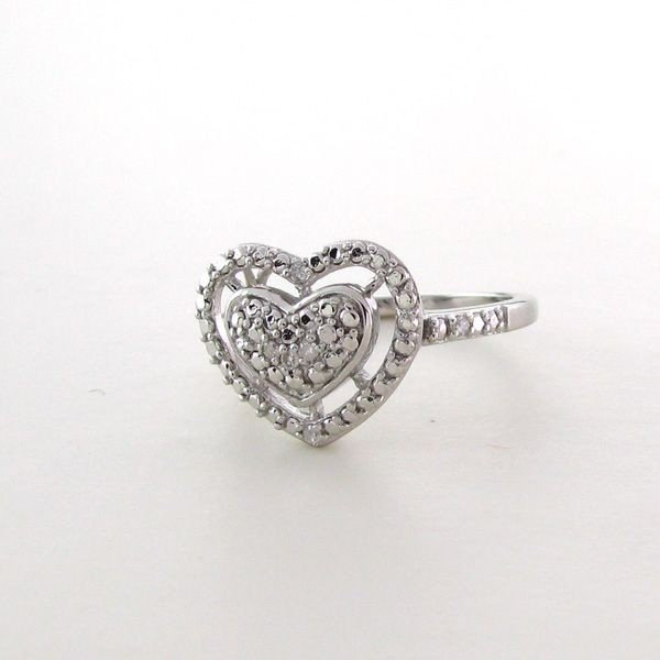 18kt White Gold & Silver, Diamond Ring