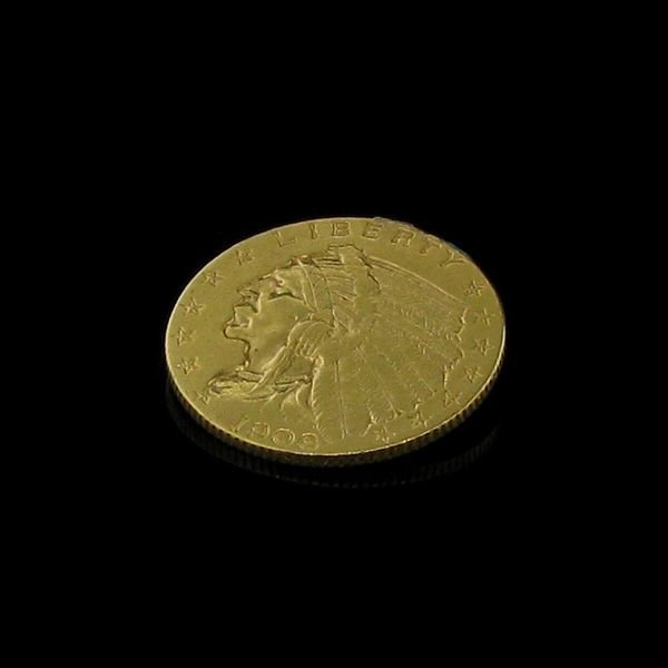 1908 U.S. Gold Indian Head $2.50 Coin - Investment