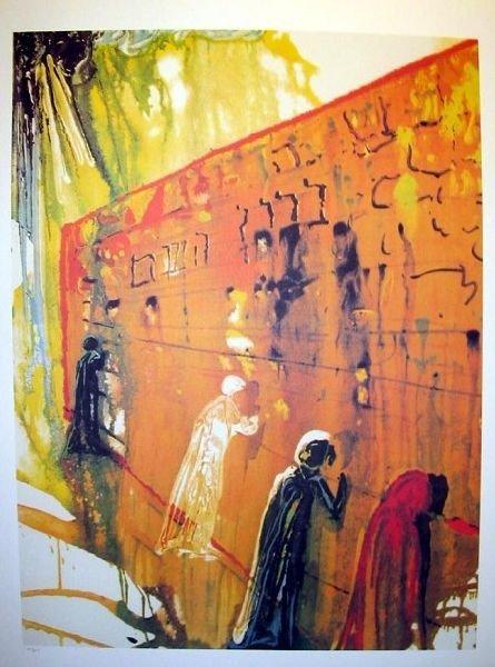 SALVADOR DALI Wailing Wall Print, Limited Edition