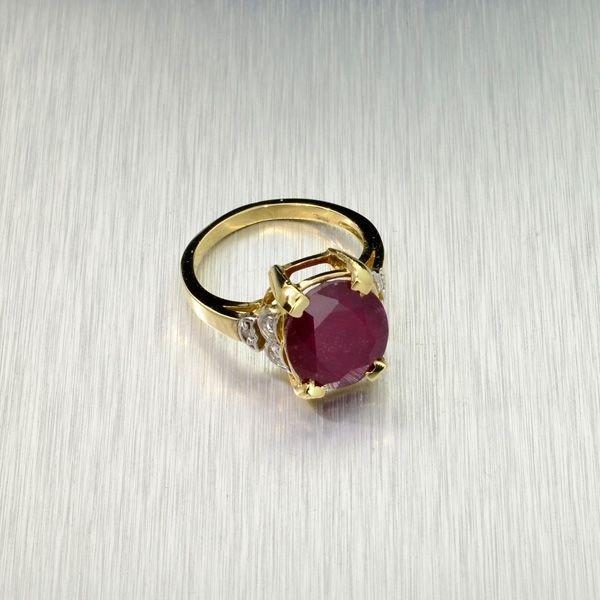 APP: 6k 14kt Yellow/White Gold, 5CT Ruby & Diamond Ring