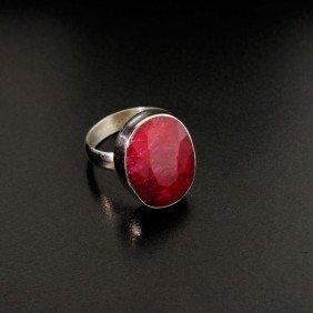 APP: 2k 9.37CT Ruby & Sterling Silver Ring