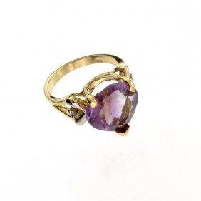 APP: 2k 14kt Yellow & White Gold, 7.50CT Amethyst Ring