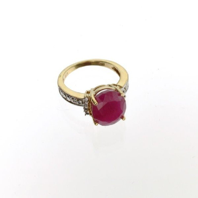 APP: 7.9k 14 kt. Yellow & White Gold, 6.52CT Ruby Ring