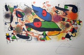 JOAN MIRO Sculpture II Print, Limited Edition