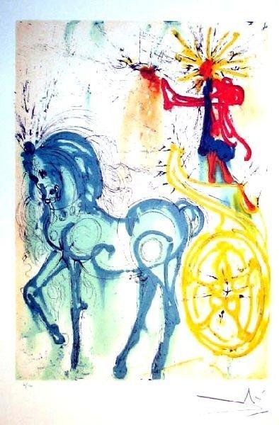 SALVADOR DALI Le Cheval De Triomphe Print, Limited Edn