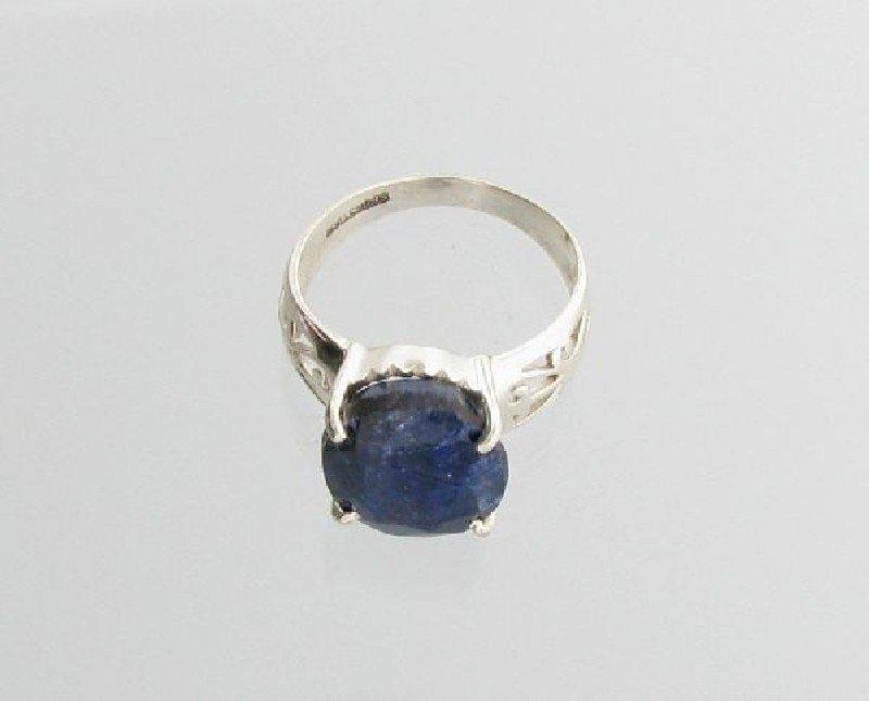 APP: 1k Sebastian 7CT Sapphire & Sterling Silver Ring