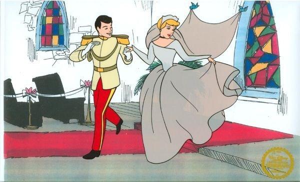 Disney Cel, Cinderella at Chapel w/Certificate