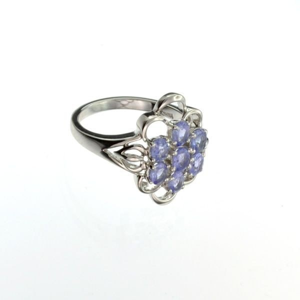 APP: 1k 1CT Tanzanite & Platinum Sterling Silver Ring