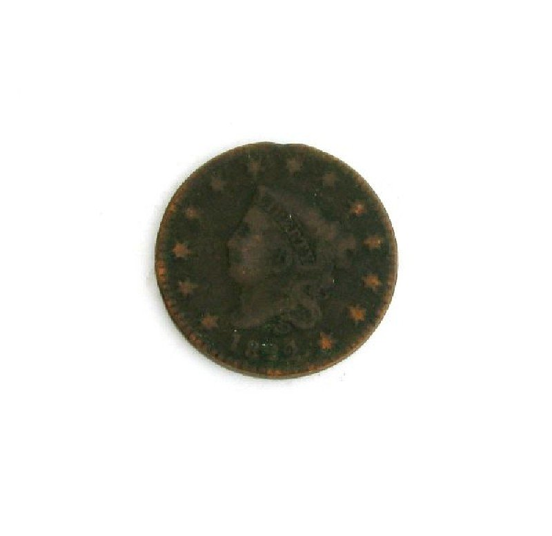 1822 Busted Liberty one Cent Coin - Investment