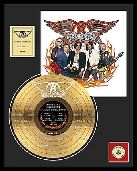"""AEROSMITH""""America's Greatest Rock and Roll Band""""Gold LP"""