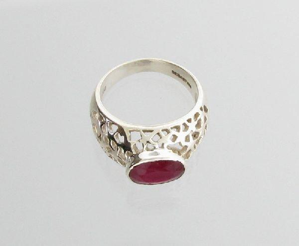 APP: 4.5k Sebastian 3.22CT Ruby & Sterling Silver Ring