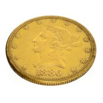 1886-S $10 U.S. Liberty Head Gold Coin - Investment