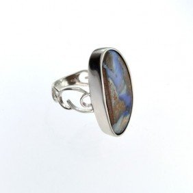 APP: 9.3k 22.55CT Boulder Opal & Sterling Silver Ring