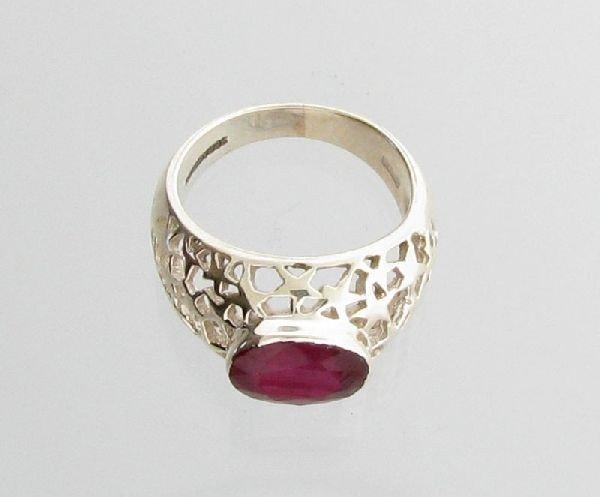 APP: 4.1k Sebastian 3.78CT Ruby & Sterling Silver Ring