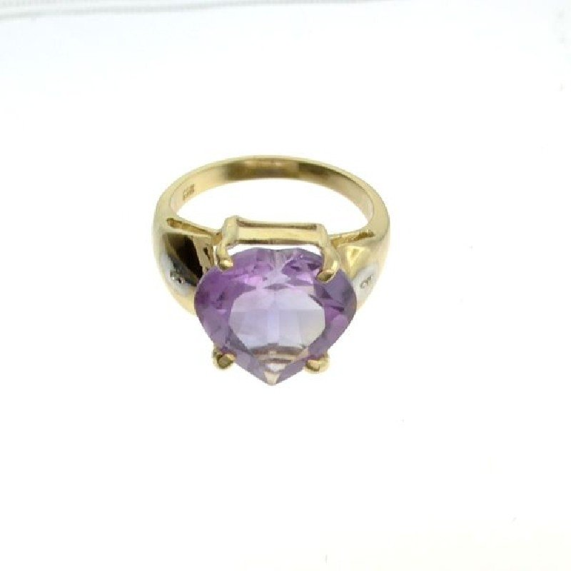 APP: 2k 14kt Yellow & White Gold, 7.77CT Amethyst Ring