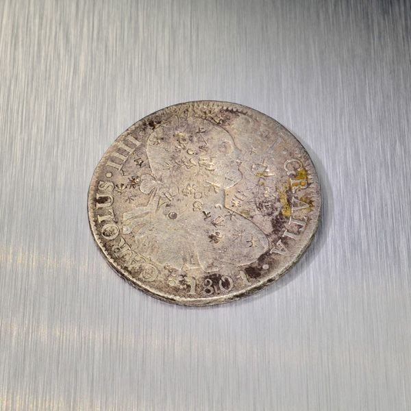 1801 Eight Reales First Silver Dollar Coin - Investment