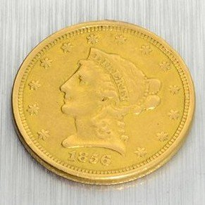 1856 $2.5 U.S. Liberty Head Gold Coin - Investment
