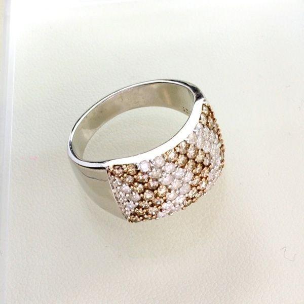 APP: 3k 2CT Diamond & Plat Overlaid Sterl Silver Ring