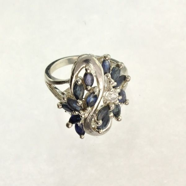APP: 3.6k 2.42CT Blue Sapphire & Sterling Silver Ring