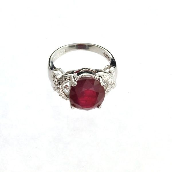 APP: 8k 5.95CT Ruby & Sterling Silver Ring