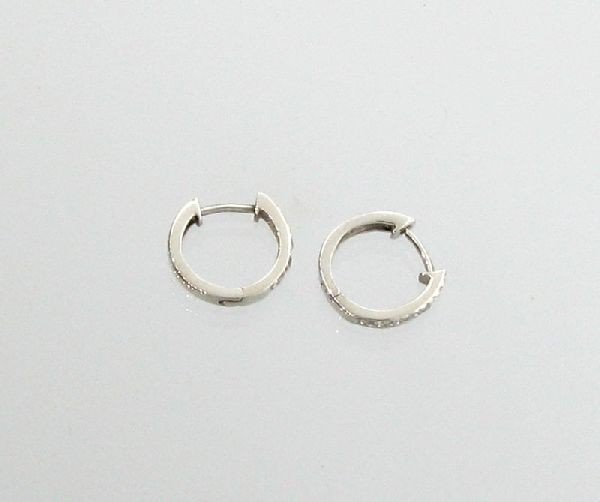 Diamond Plat Overlaid Sterl Silver Earrings