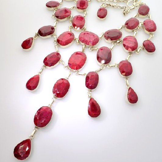 APP: 67.6k 499.65CT Ruby & Sterling Silver Necklace